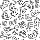 Seamless currency symbol background