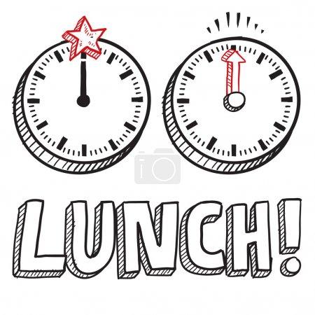 Lunch break sketch