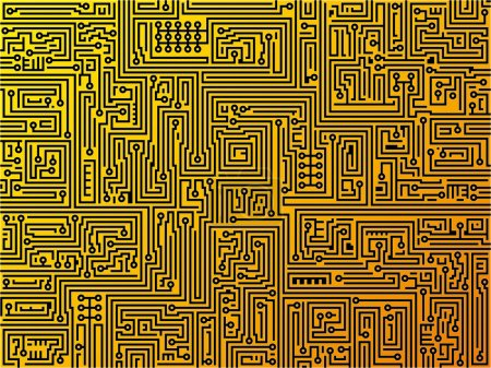 Illustration for Abstract vector illustration background depicting a circuit board. Technology, maze concept. - Royalty Free Image