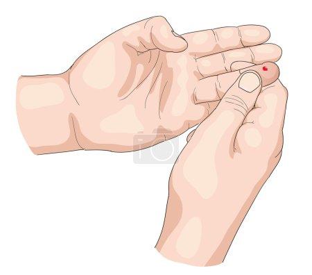 Illustration for Blood test. Vector illustration. - Royalty Free Image
