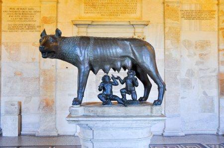 Photo pour Le Loup du Capitole - image libre de droit