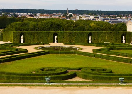 Beautiful garden in a Famous palace Versailles.