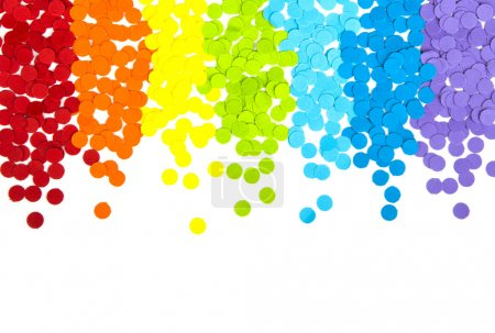 Photo for Confetti on white background - Royalty Free Image
