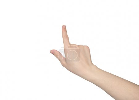 hand points a finger
