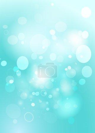 Illustration for Leaves blue bokeh. Spring background. - Royalty Free Image