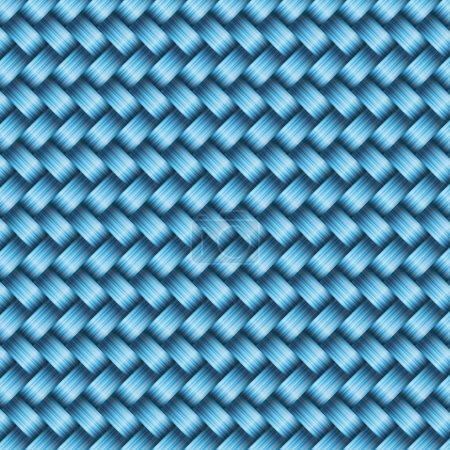 Illustration pour Texture sans couture en osier carrelage, illustration vectorielle - image libre de droit