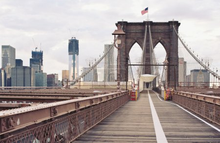 Photo pour Pont de Brooklyn à new york city. - image libre de droit