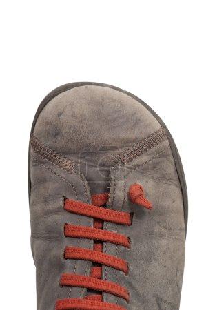 Single casual shoe isolated on white background