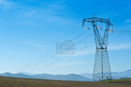 Pylon with blue sky background