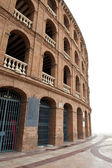 Detail of Plaza de toros (bullring) in Valencia, Spain. The stadium was built by architect Sebastian Monleon in 1851