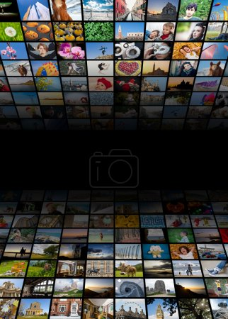 Photo for Abstract multimedia background made by different images - Royalty Free Image