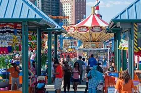NEW YORK - JUNE 27: having fun in Coney Island amu...