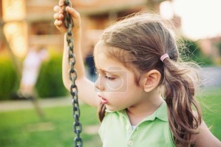 Little child intimate close up portrait.