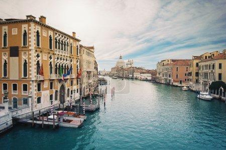 Grand canal and Santa Maria della Salute, Venice, Italy.