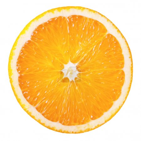 Photo pour Tranche d'orange fraîche isolé sur fond blanc - image libre de droit