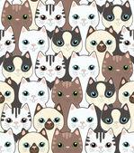 Funny cartoon cats Seamless pattern