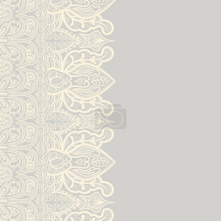 Illustration for Background with lace ornament - Royalty Free Image