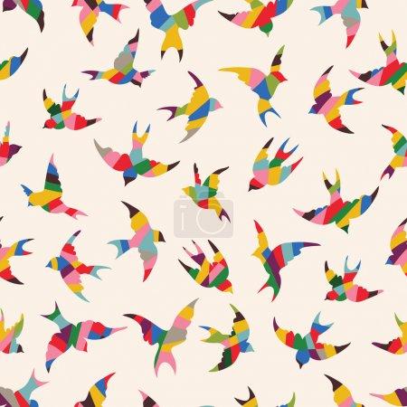 Oiseaux de printemps motif sans couture