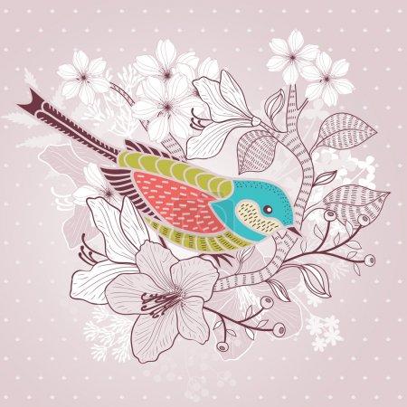 Illustration for Floral background - Royalty Free Image