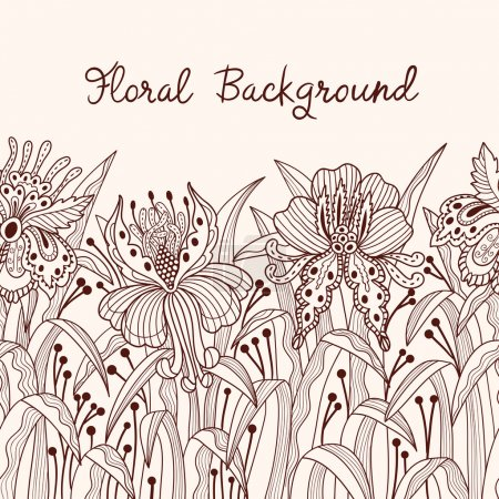 Illustration for Seamless floral background - Royalty Free Image