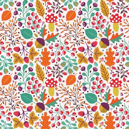 Illustration pour Modèle sans couture automne - image libre de droit