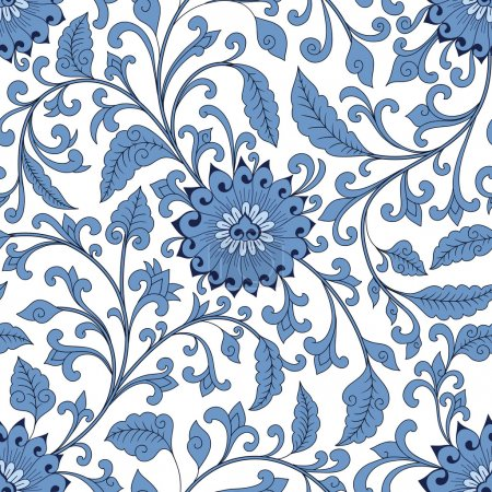 Illustration for Seamless chinese pattern - Royalty Free Image