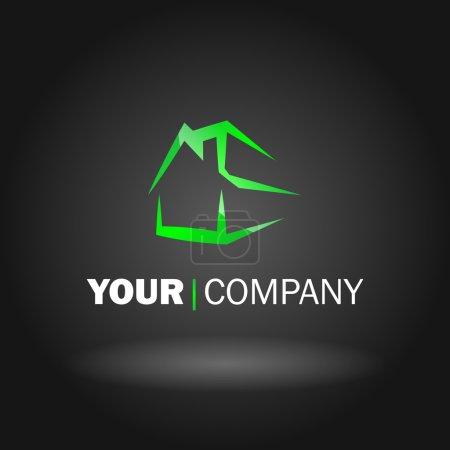 Illustration pour Illustration vectorielle d'un type de logo maison - image libre de droit