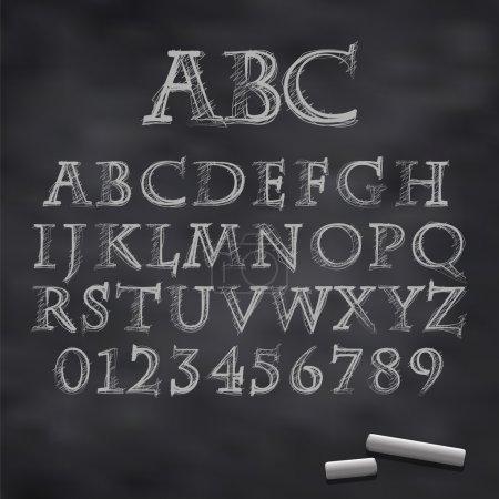 Vector chalk font