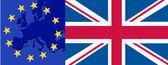 Flag of UK and EU vector illustration
