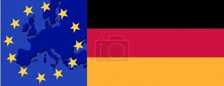 Flag of Germany and EU