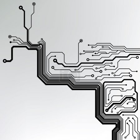 Illustration for Circuit board pattern. abstract technology circuit board vector background - Royalty Free Image