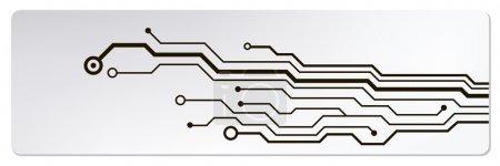 Illustration pour Bannières web de circuit techno. Illustration vectorielle EPS10 - image libre de droit