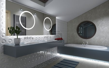 Bathroom with circles