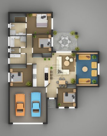 Floor Plan Of Residential House