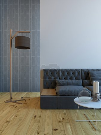 Photo for Living room with sofa and lamp - Royalty Free Image