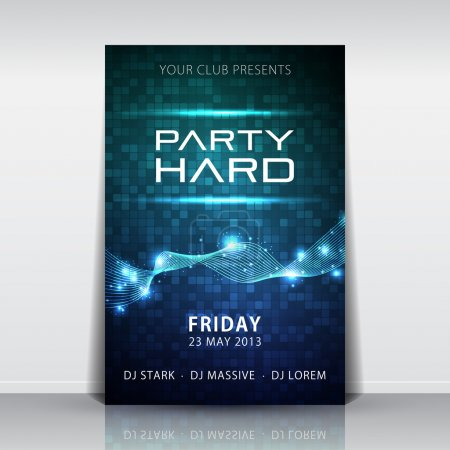 Illustration for Mosaic background party flyer - Royalty Free Image