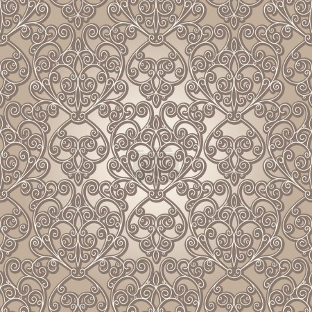 Photo for Abstract seamless pattern, vintage lattice background - Royalty Free Image