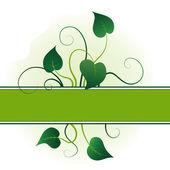 Green leaves with flourishes summer background