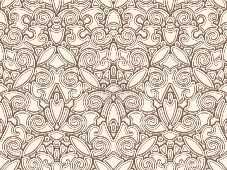 Vintage beige seamless pattern