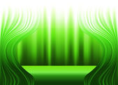 Green curtains and stage decorative drapes background