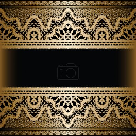 Gold lace background