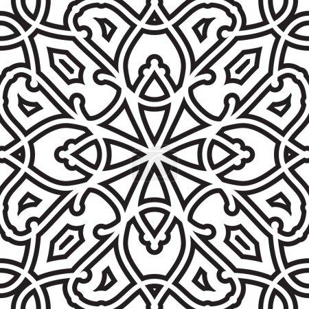 Illustration pour Modèle abstrait sans couture géométrique noir et blanc - image libre de droit