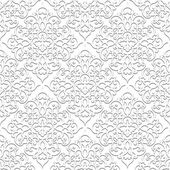 White background damask ornament seamless pattern in neutral color