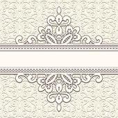 Ornamental lace frame horizontal divider stripe vintage background