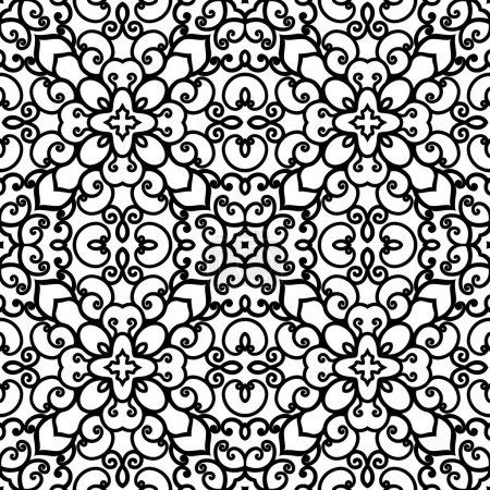 Black and white swirly pattern