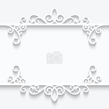 Ornamental paper frame