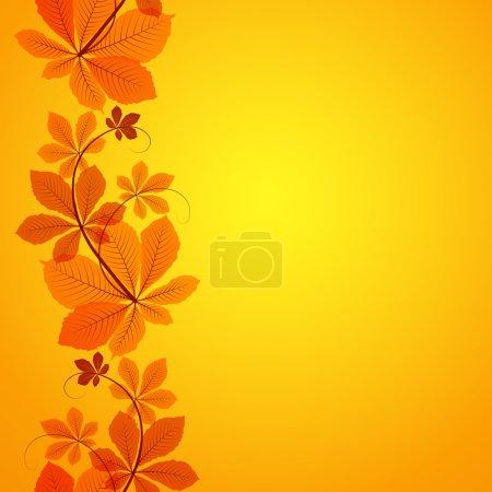 Autumn leaves border ornament