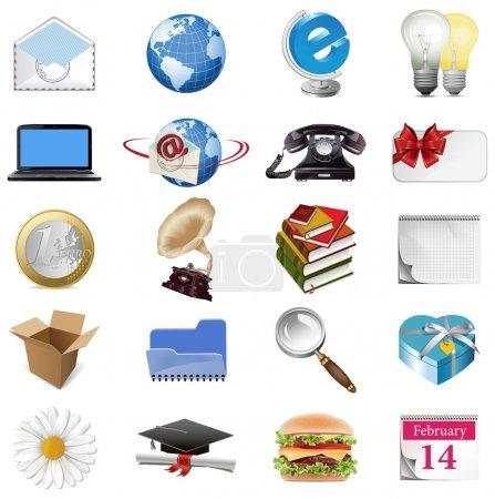 Illustration pour Ensemble d'icônes de l'internet. tous les éléments sont des objets individuels. Vector illustration échelle à n'importe quelle taille. - image libre de droit