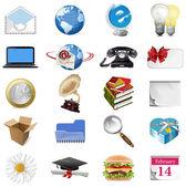 Set of internet icons.