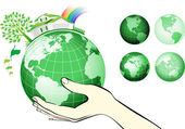 Earth globe in hands protected Earth protection concepts recycling world issues environment themes